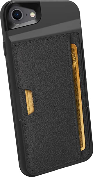 new products 595a8 451fa Smartish iPhone 7/8 Wallet Case - Wallet Slayer Vol. 2 [Slim Protective  Kickstand] Credit Card Holder for Apple iPhone 8/7 (Silk) - Black Onyx
