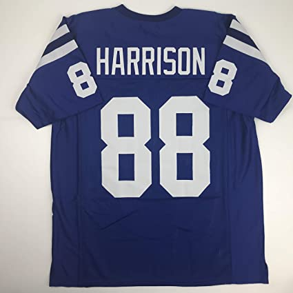 d891030d Unsigned Marvin Harrison Indianapolis Blue Custom Stitched Football Jersey  Size Men's XL New No Brands/