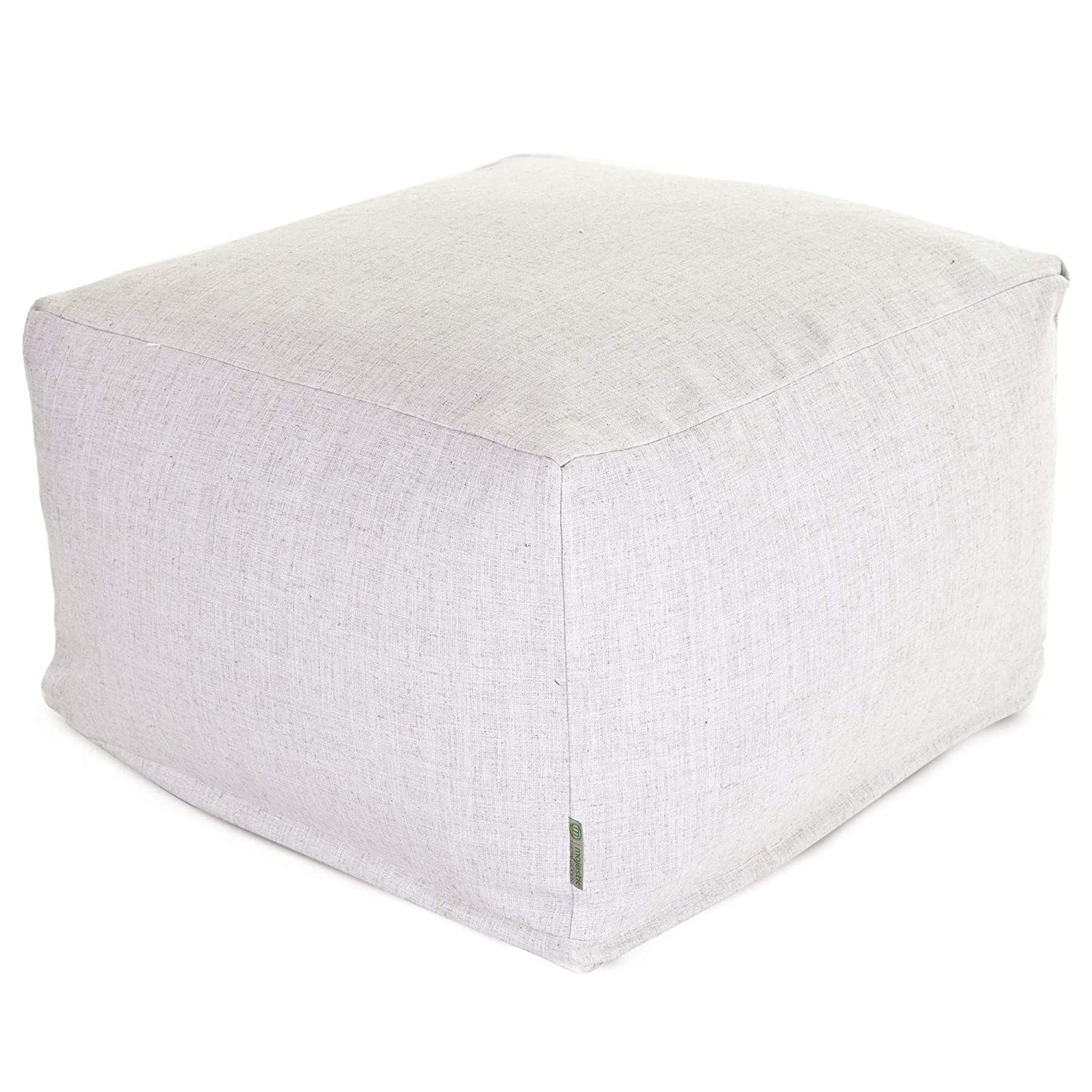 Majestic Home Goods Wales Ottoman, Large,Magnolia
