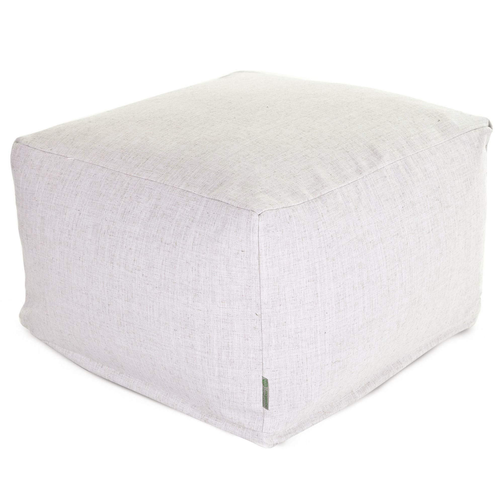 Majestic Home Goods Wales Ottoman, Large,Magnolia by Majestic Home Goods
