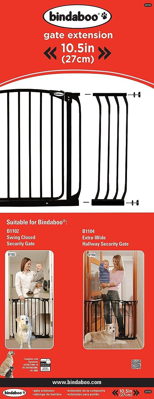 Wide Bindaboo Zoe Pet//Dog Gate Xtra Fits openings 97 to 106cm Black