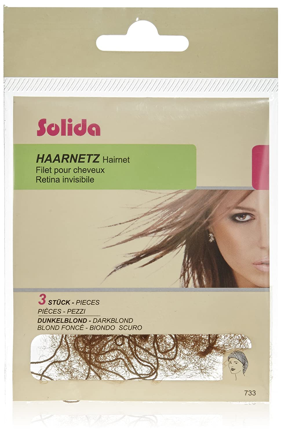 Solida Hair Net White Pack of 3