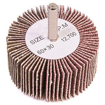 Wheel Aluminum Polishing 30mm Shank Bit Rotary Abrasive Flap Sanding Grit 80
