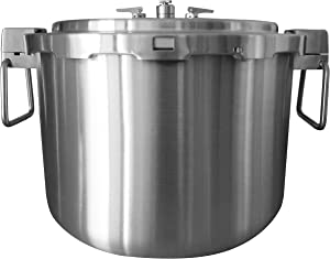 Buffalo QCP435 37-Quart Stainless Steel Pressure Cooker Pressure Canner [Commercial series]- Pressure Gauge/ Steam Pot EXCLUDED (Optional Accessories)