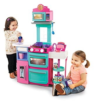 Amazon Com Little Tikes Cook N Store Kitchen Playset Pink