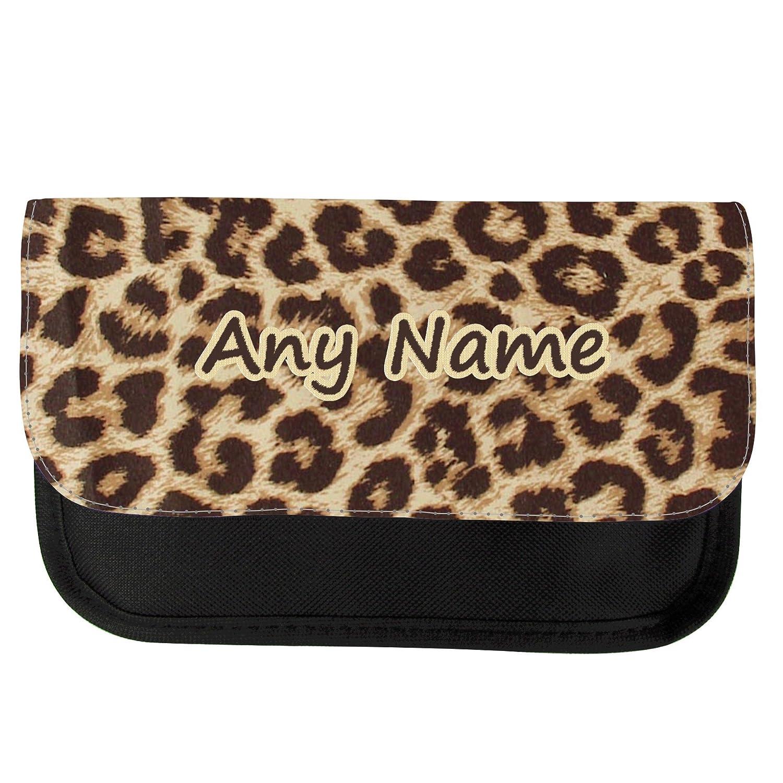 Personalizado estampado de leopardo estuche escolar: Amazon ...
