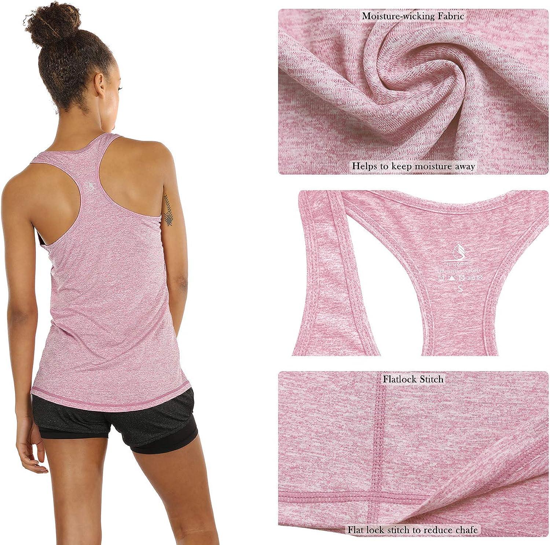 Running delle Donne Vest Yoga Wear da Maniche a Spalle Scoperte Formazione e Palestra Canotta icyzone Tank Top Donna Canotta Sportiva 3 Pacco