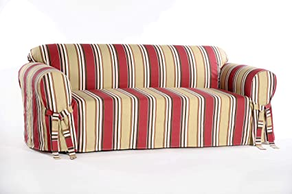 Amazon.com: Classic Slipcovers Printed Classic Stripe Canvas ...