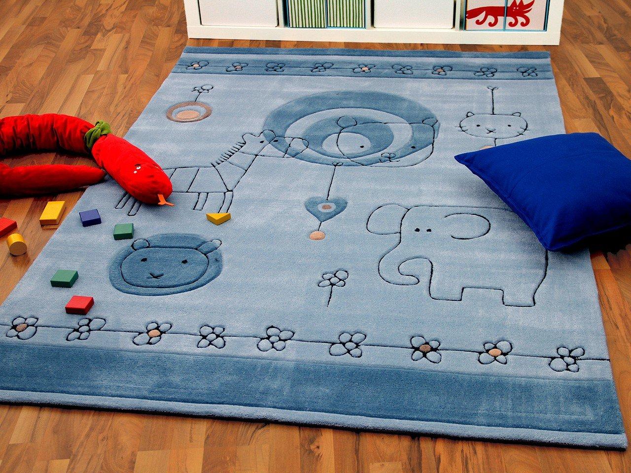 Lifestyle Kinderteppich Babywelt Blau Hellblau in 3 Größen     Sofort Lieferbar
