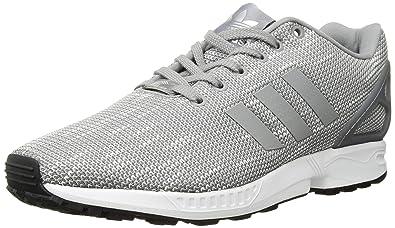 a17a3b2cac10f3 adidas Originals Men s ZX Flux Fashion Sneaker Grey White