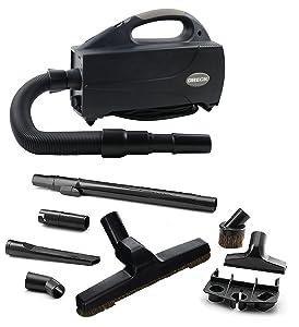 Oreck BB1200 Compact Canister Vacuum - Handheld Cannister Floor Cleaner & Blower w/HEPA Filter Bag for Dusting Dirt & Dog Hair for Hardwood, Wooden & Tile Floors
