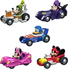Fisher-Price Disney Mickey & the Roadster Racers, Hot Rod Vehicles, 5 Pack