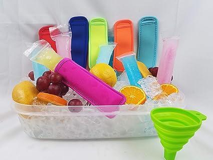 200 piezas de bolsas de plástico para hielo y paletas, 1 ...