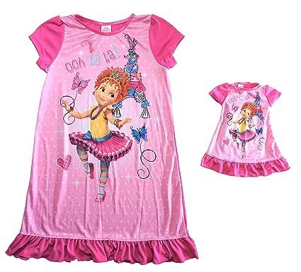 5b13cb133a5a Amazon.com  AME Fancy Nancy Nightgown   Doll Gown Set - Girls  Clothing