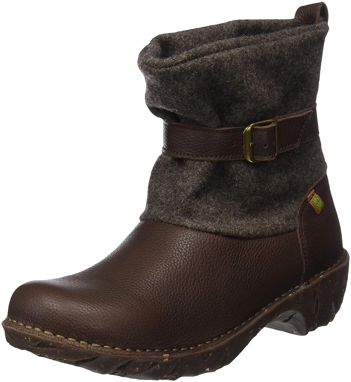 El Naturalista Damen Ng56 Soft Grain-Premium Wool braun Yggdrasil Kurzschaft Stiefel