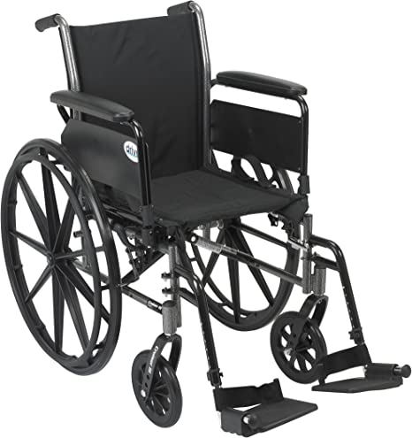 Amazon Com Drive Medical Cruiser Iii Light Weight Wheelchair With Various Flip Back Arm Styles And Front Rigging Options Flip Back Removable Full Arms Swing Away Footrests Black 20 Inch Health Personal Care