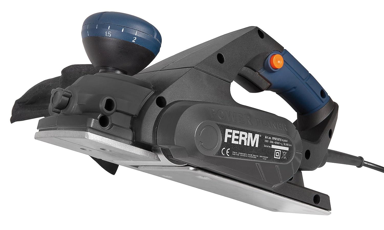 FERM Rabot électrique 650W - Réglage de la profondeur - Incl. guide parallèle et sac à poussière PPM1010