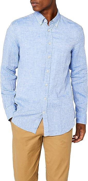 Hackett London Yarn Dyed Linen Shirt Camisa para Hombre Slim Fit: Amazon.es: Ropa y accesorios