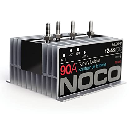 Cool Noco Igd90Hp Grey 90 Amp High Performance Battery Isolator Amazon Wiring 101 Akebretraxxcnl