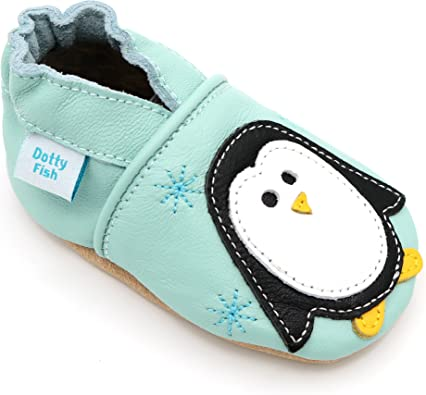Baby Boys//Girls Infant Toddler Fleece Lined REAL Leather Turquoise Cruiser Boots