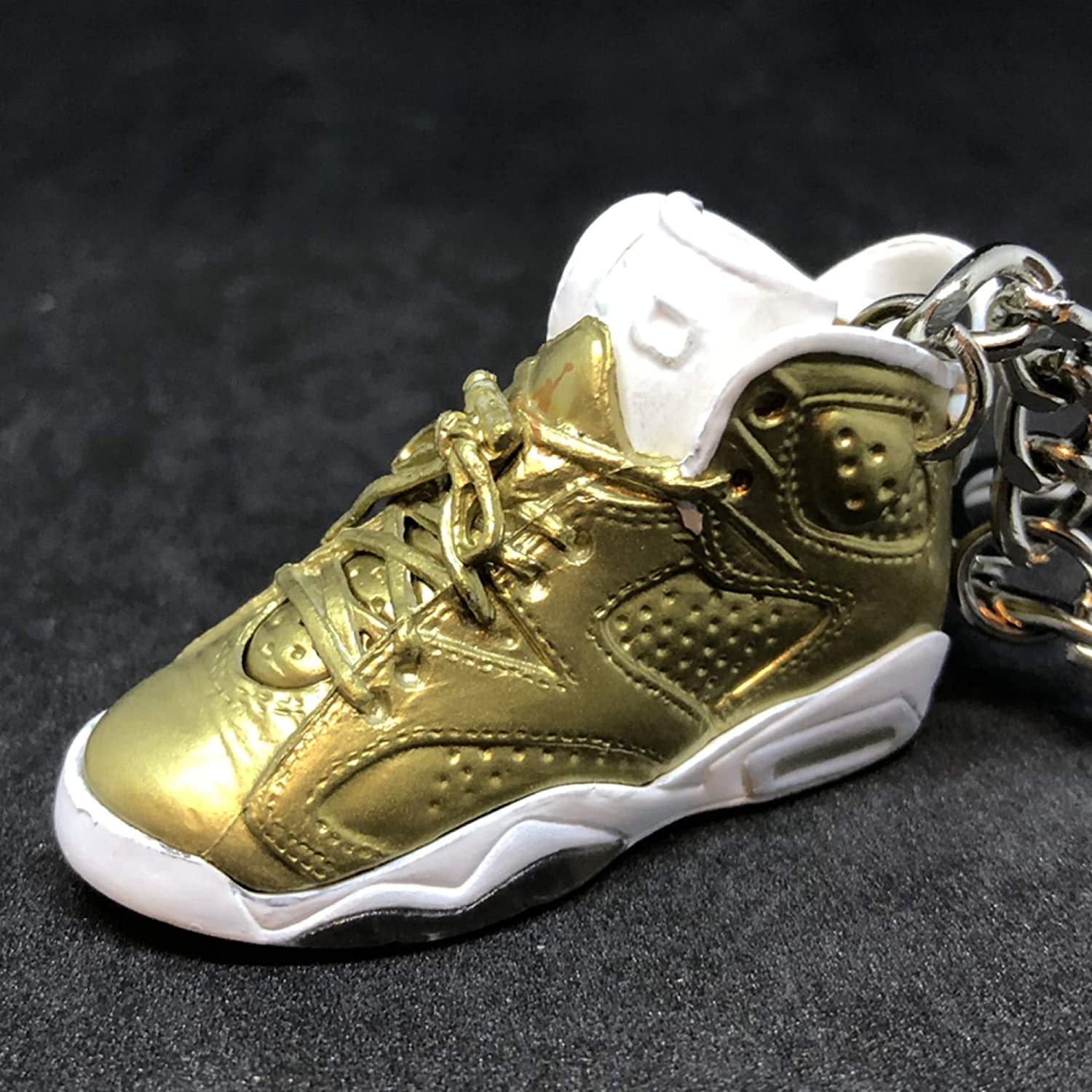 promo code 1563c 8e86d Amazon.com  Air Jordan VI 6 Retro Pinnacle Metallic Gold OG Sneakers Shoes  3D Keychain 1 6 Figure  Everything Else