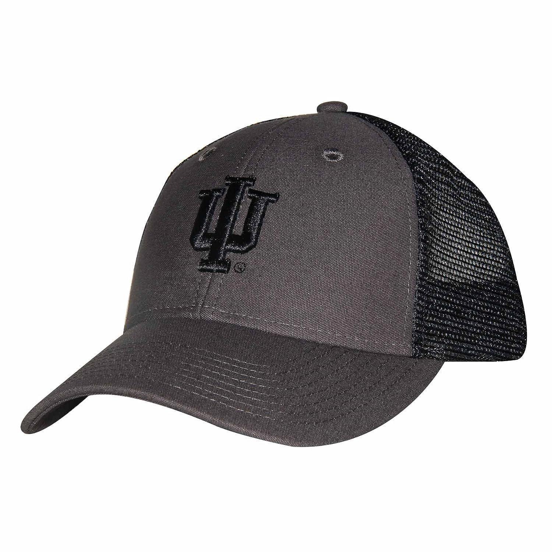 NCAA Indiana Hoosiers Adult Unisex Industrial Canvas Mesh Cap  Adjustable Size