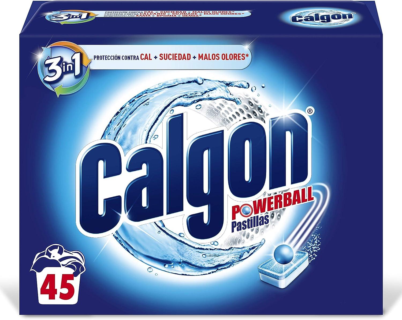Calgon Antical para lavadora, protección contra cal + suciedad + malos olores - 45 pastillas