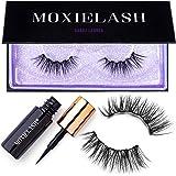 MoxieLash Sassy Kit - Mini Liquid Magnetic Eyeliner for Magnetic Eyelashes - No Glue & Mess Free - Fast & Easy Application -