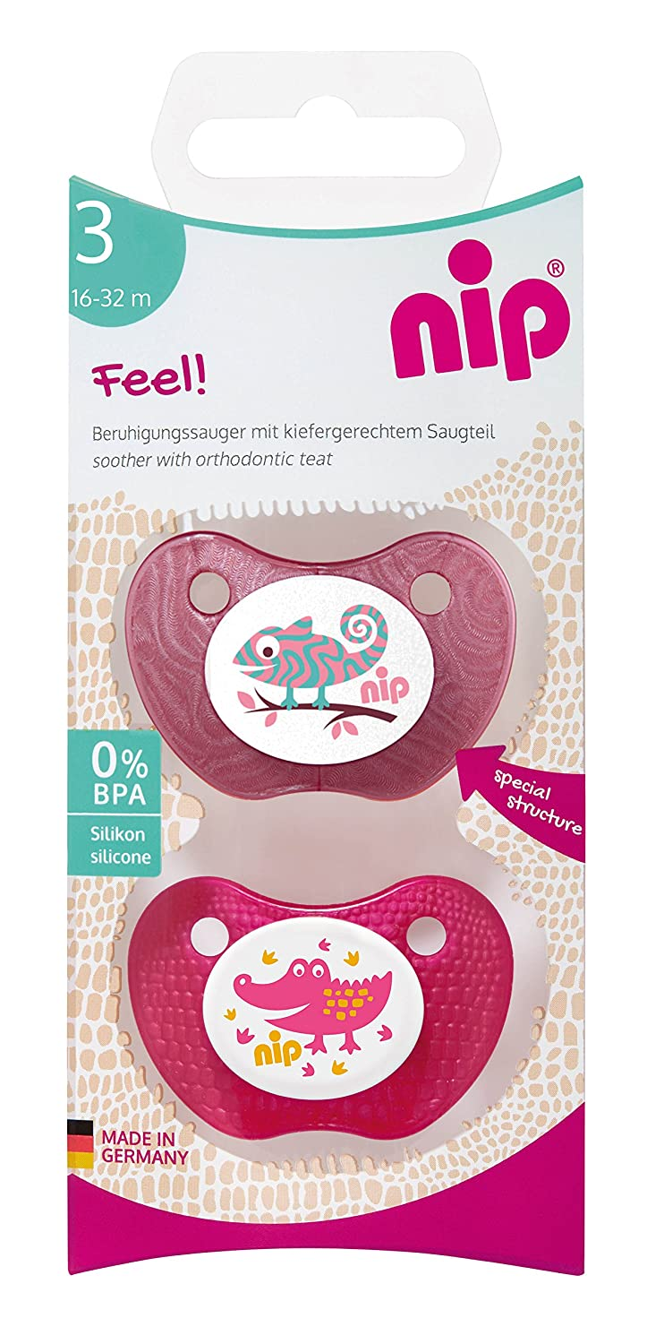 38244-51 chupetes nip Feel - dobles, silicona chica, 16-32 meses ...