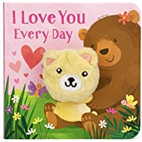 I Love You Every Day Children's Finger Puppet Board Book (Perfect Gifts for Valentines, Mother's & Father's Day…