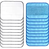 Anharluka 20-Pack Microfiber Mopping Cloths, 10 Wet + 10 Dry Washable & Reusable Mop Pads, Fits iRobot Braava 380 380t…
