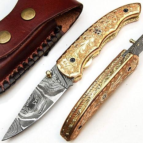 PAL 2000 SJRM 9518 Cuchillo de Hoja de Acero de Damasco ...