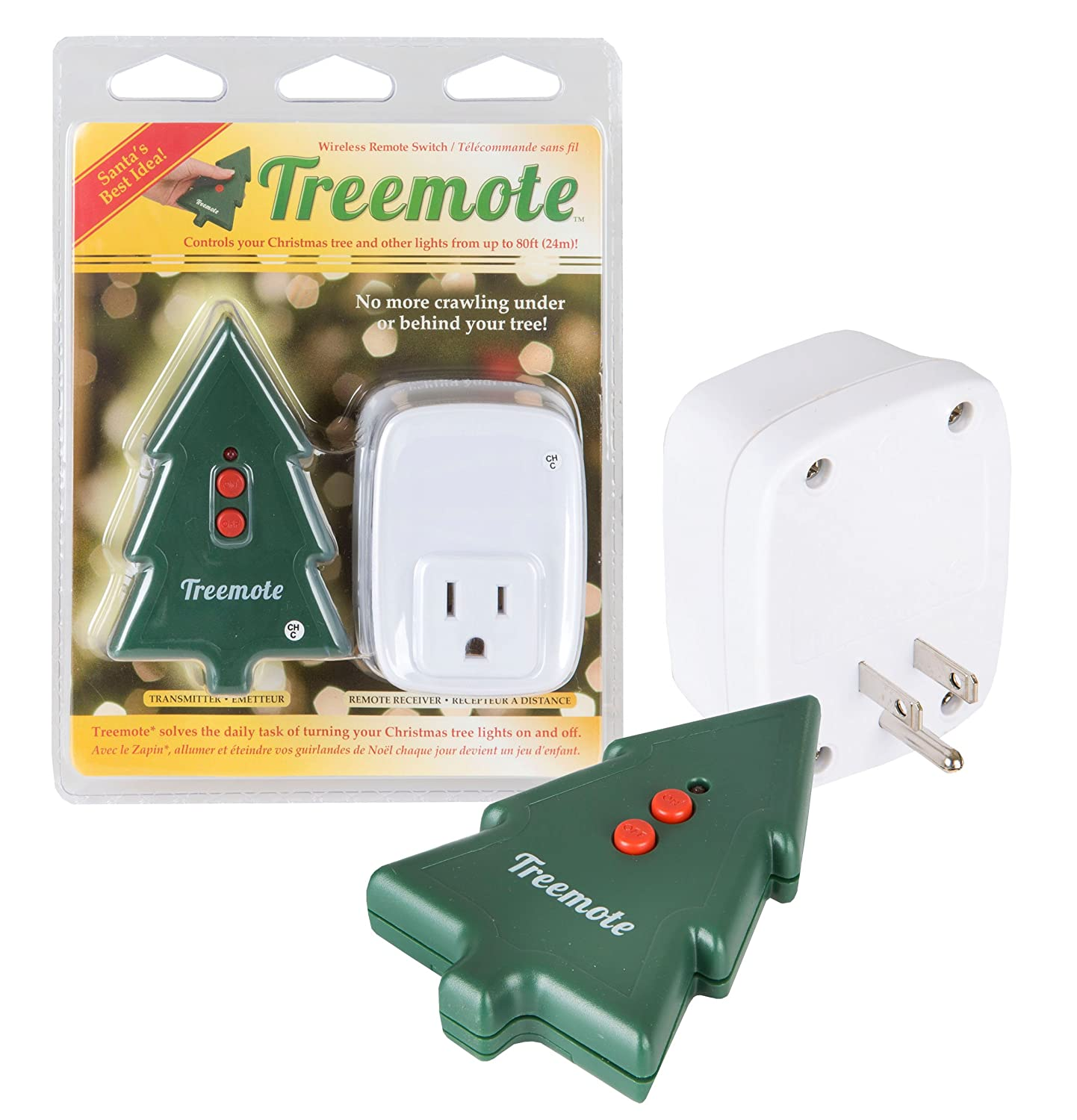 amazoncom treemote wireless remote switch for christmas tree and other lights home kitchen