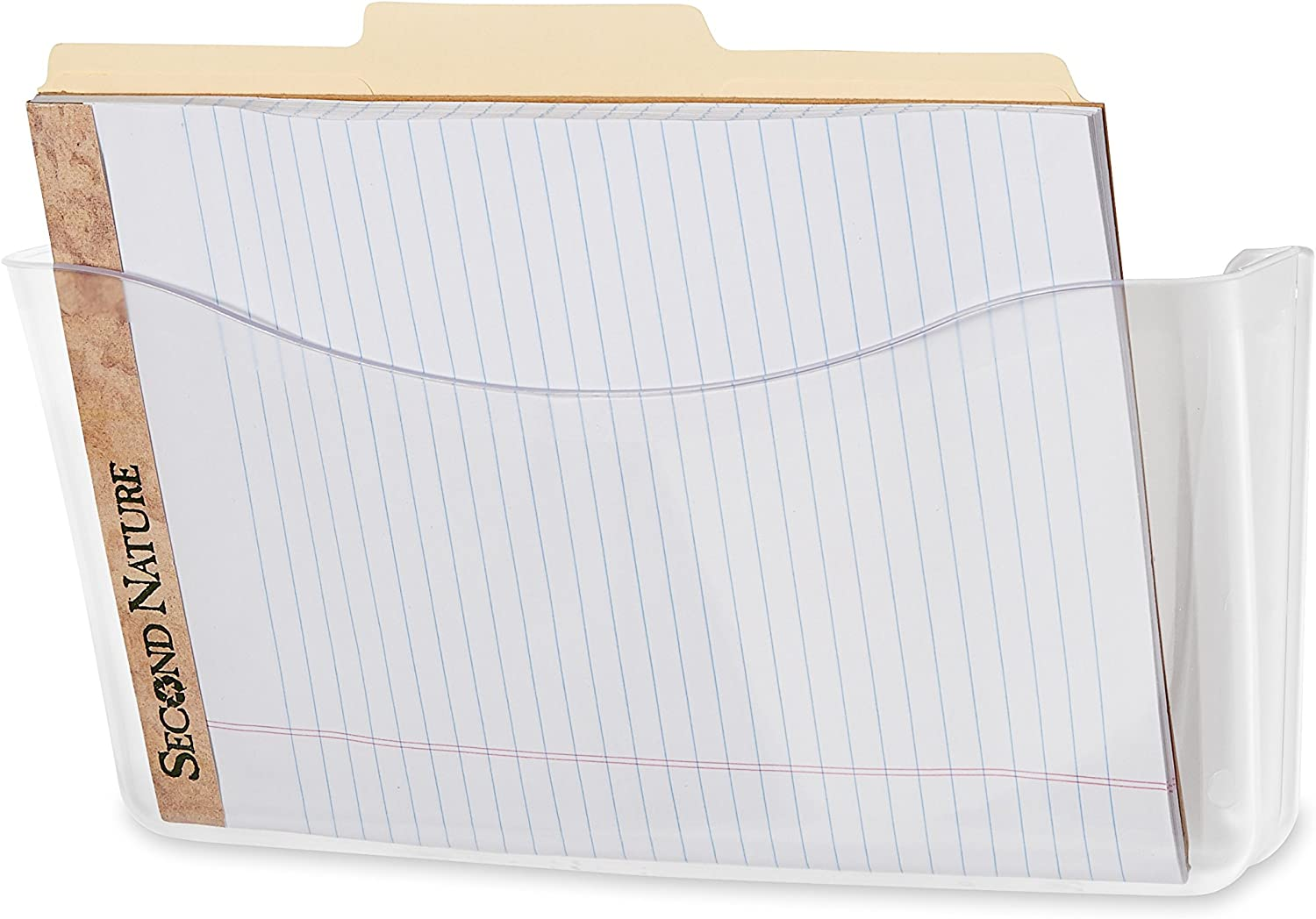 Rubbermaid Unbreakable Single Pocket Wall File, Letter Size (85. x 11), Clear (65972ROS)