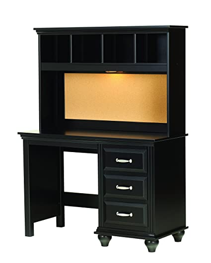 Lang Furniture Madison Desk Hutch With Light 12 By 45 By 30 Inch Black