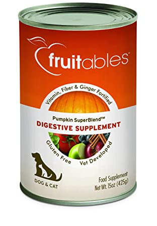 Fruitables de Calabaza Perro Suplemento Digestivo, con ...
