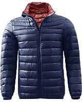 (ハイハート)Hiheart メンズ ダウンジャケット 軽量 防寒 ライトダウン 登山 アウトドア ジャケット 秋 冬 メンズアウター ナイロンジャケット