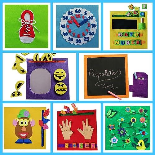 QUIET BOOK. Libro sensorial, Montessori, juguete educativo ...