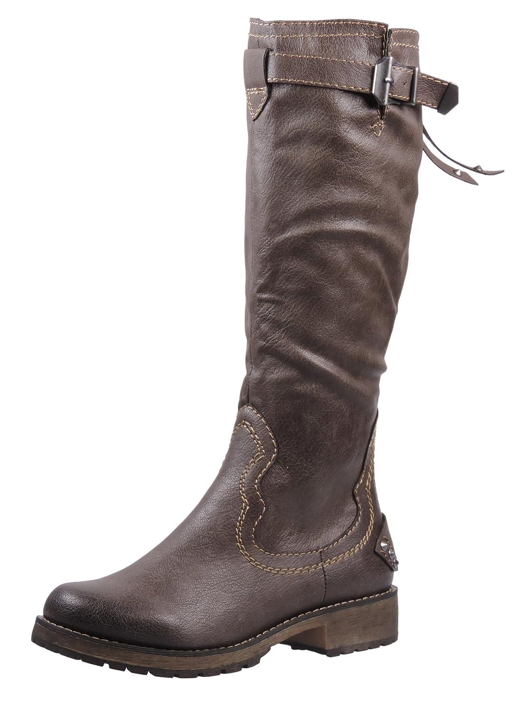 Tamaris Damen Stiefel Gefüttert Grau, Schuhgröße:EUR 40
