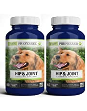 Premium Canine Glucosamine Chondroitin with MSM for Dogs, Great All Natural Beef Liver Chews Supplement for Hip and Joints, Safe and Made in USA (120 Count)