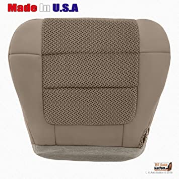 Black 07 Ford Expedition Driver Bottom Leather Seat Cover Two Tone Pattern Tan