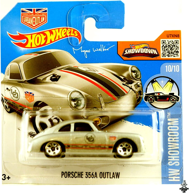 2016 Hot Wheels Porsche 356A Outlaw HW Showroom Silver (Short Card)