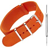 Nylon NATO Watch Strap by Sniper Bay® Straps | Military Style Divers Bands | 18mm 20mm 22mm 24mm
