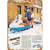 MNUT 1968 Polaris Snowmobiles Cartel de Metal