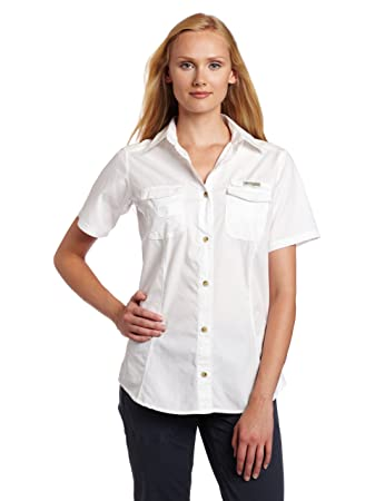 Amazon.com : Columbia Women's Bonehead Short Sleeve Shirt : Button ...