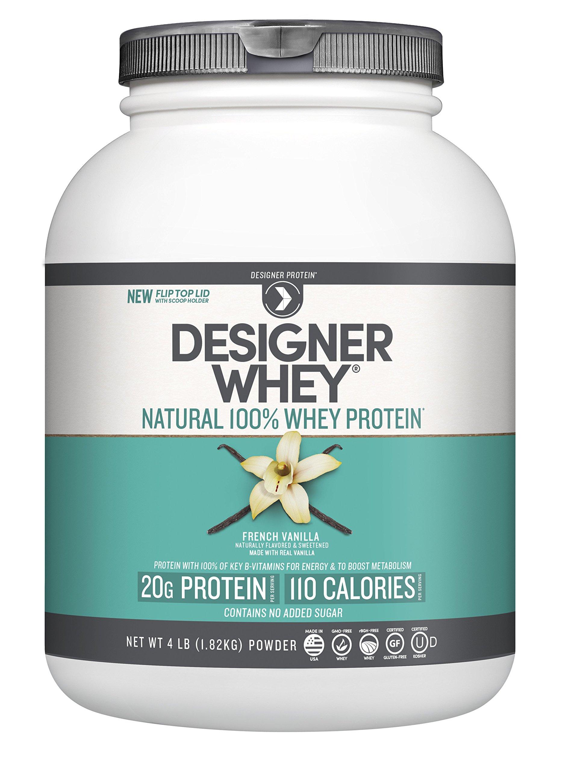 Designer Whey Premium Natural 100% Whey Protein, French Vanilla, 4 Pound by Designer Whey (Image #4)