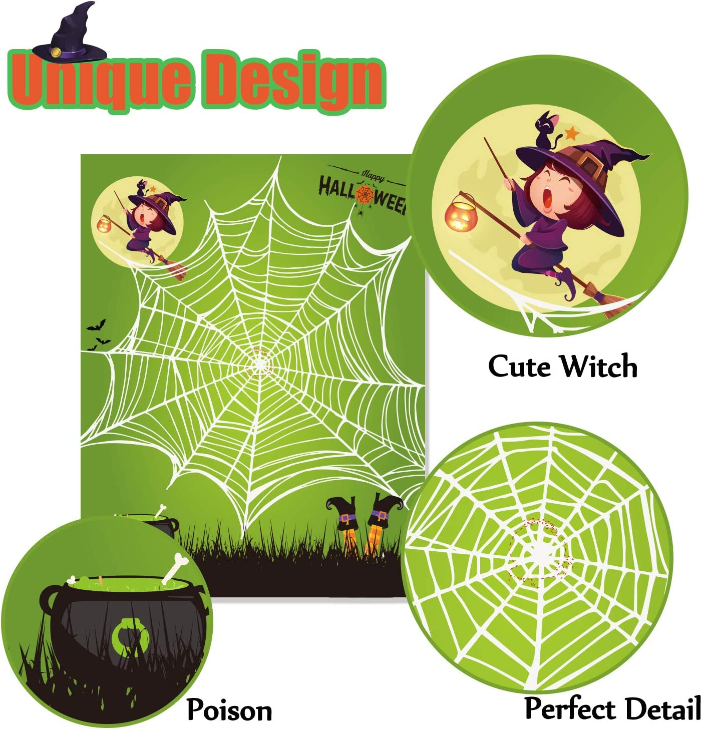 Funnlot Halloween Party Games for Kids Halloween Games Pin The Spider on The Web Game Halloween Party Favors and Games Halloween ?Halloween Party Games Activities Halloween Pin The Tail Game