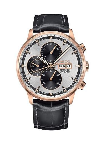 Mido Reloj Multiesfera para Hombre de Automático con Correa en Cuero M016.414.36.031.59: Amazon.es: Relojes