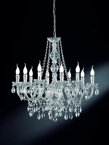 Kronleuchter Wandlampe Silber Chrom Hängelampe Pendelleuchte Wandleuchte Kerze