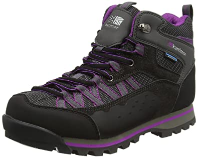 Karrimor Damen Spike Mid II Ladies Weathertite Trekking-& Wanderschuhe, Violett (Black Purple), 39 EU